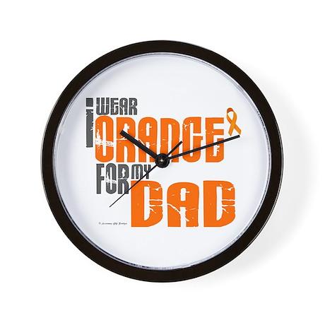 I Wear Orange For My Dad 6 Wall Clock