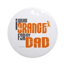 I Wear Orange For My Dad 6 Ornament (Round)