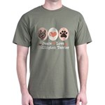Peace Love Bedlington Dark T-Shirt