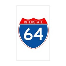 Interstate 64 Rectangle Decal