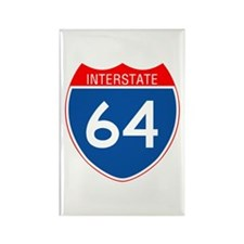 Interstate 64 Rectangle Magnet (100 pack)