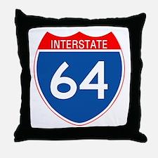 Interstate 64 Throw Pillow