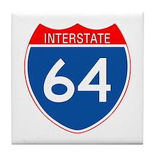 Interstate 64 Tile Coaster