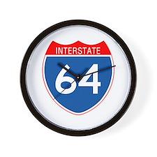 Interstate 64 Wall Clock