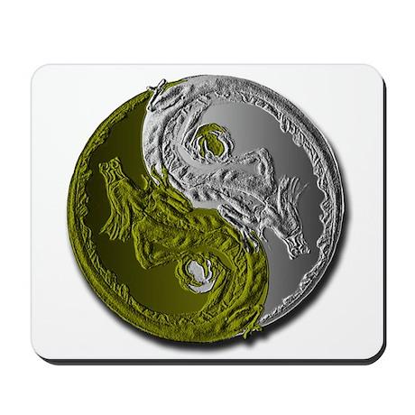 Dragons Yin-Yang Mousepad