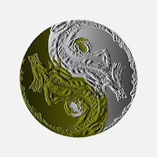 """Dragons Yin-Yang 3.5"""" Button"""