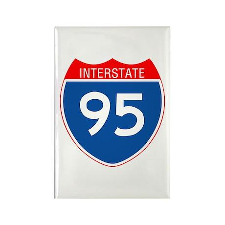 Interstate 95 Rectangle Magnet