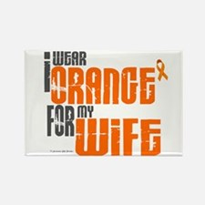 I Wear Orange For My Wife 6 Rectangle Magnet (10 p