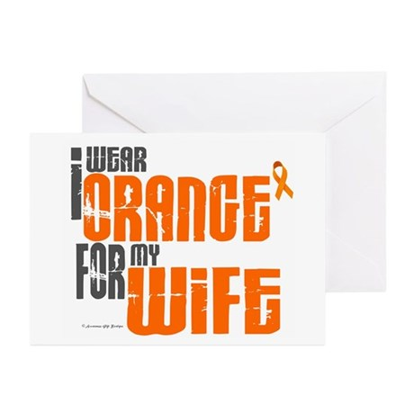 I Wear Orange For My Wife 6 Greeting Cards (Pk of