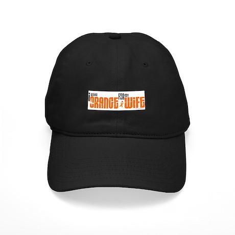 I Wear Orange For My Wife 6 Black Cap