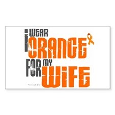I Wear Orange For My Wife 6 Rectangle Decal