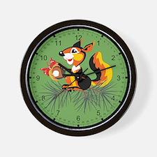 Acorn Squirrel Wall Clock