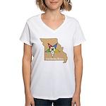OES PWM - Missouri Women's V-Neck T-Shirt