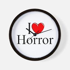 """""""I Love Horror"""" Wall Clock"""