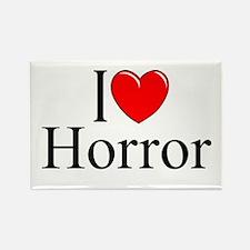"""""""I Love Horror"""" Rectangle Magnet"""