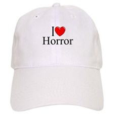 """I Love Horror"" Baseball Cap"