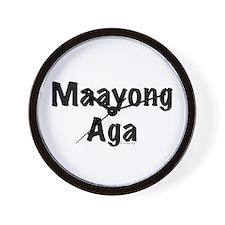 Maayong Aga Wall Clock