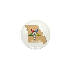 Order of the Eastern Star Missouri Mini Button (10