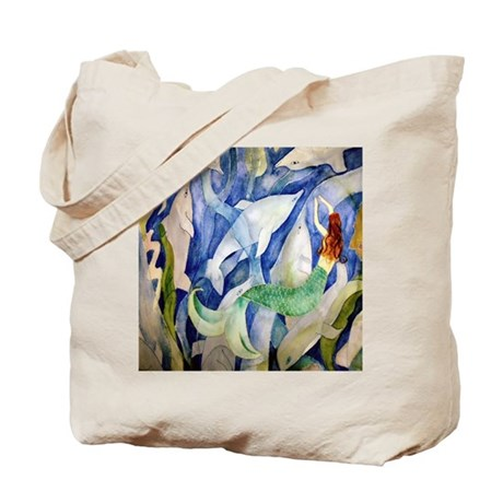 Dolphin & Mermaid party Tote Bag
