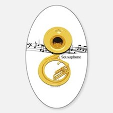 Sousaphone Music Oval Decal