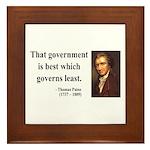 Thomas Paine 1 Framed Tile