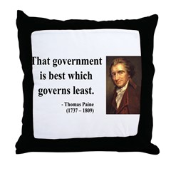 Thomas Paine 1 Throw Pillow