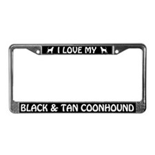 I Love My Black & Tan Coonhound License Frame