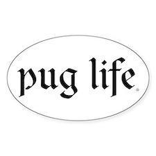 Pug Life Oval Decal