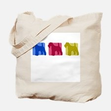 Color Row Wire-haired Fox Terrier Tote Bag