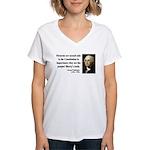 George Washington 12 Women's V-Neck T-Shirt