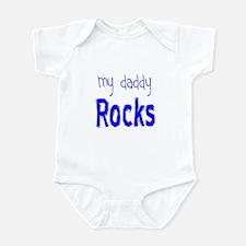 My Daddy Rocks Blue Infant Bodysuit