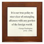 George Washington 6 Framed Tile