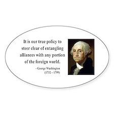 George Washington 6 Oval Decal