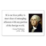 George Washington 6 Rectangle Sticker
