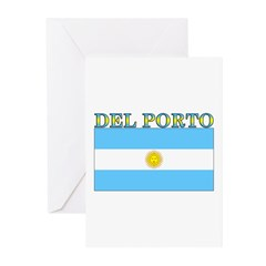Del Porto Argentina Flag Greeting Cards (Pk of 20)