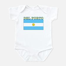 Del Porto Argentina Flag Infant Bodysuit
