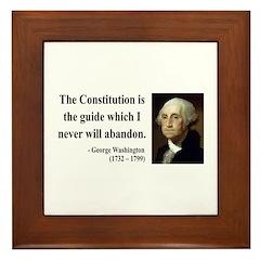 George Washington 4 Framed Tile