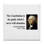 George Washington 4 Tile Coaster