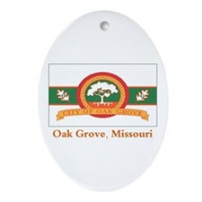 Oak Grove MO Flag Oval Ornament