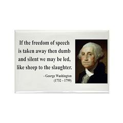 George Washington 3 Rectangle Magnet (100 pack)
