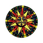 "Sunshine & Happiness 3.5"" Button"