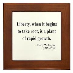 George Washington 2 Framed Tile