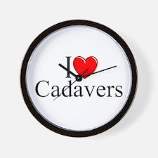 """""""I Love Cadavers"""" Wall Clock"""