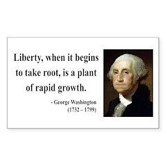 George Washington 2 Rectangle Sticker