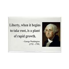 George Washington 2 Rectangle Magnet (100 pack)
