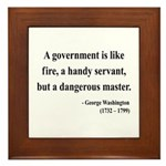 George Washington 1 Framed Tile