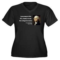 George Washington 1 Women's Plus Size V-Neck Dark