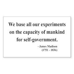 James Madison 15 Rectangle Decal