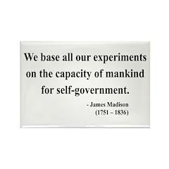 James Madison 15 Rectangle Magnet (10 pack)