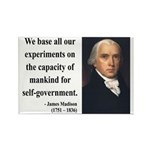 James Madison 15 Rectangle Magnet